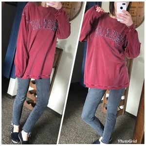 VTG Bugle Boy cozy red crew neck pullover tee